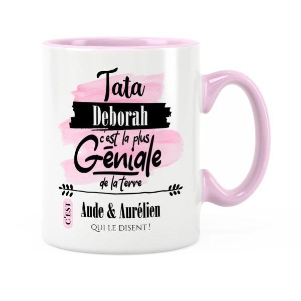 Cadeau tata | Idée cadeau mug avec prénom une tata géniale