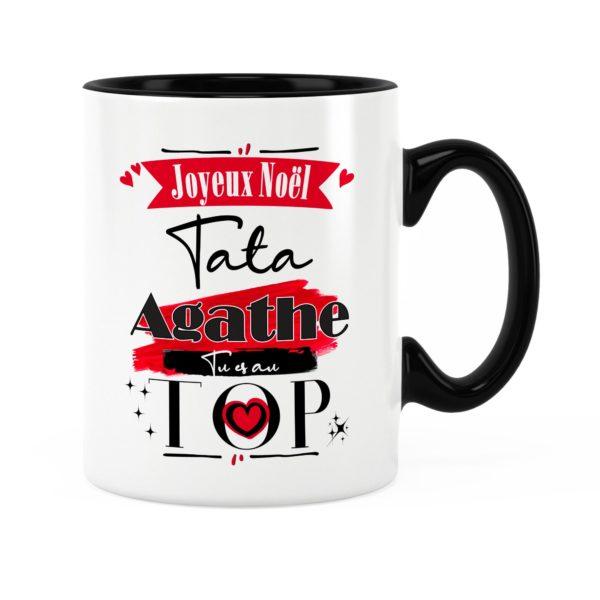 Cadeau tata | Idée cadeau mug joyeux noël avec prénom et photo
