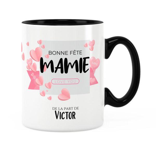 Cadeau bonne fête mamie | Mug personnalisé prénom love you