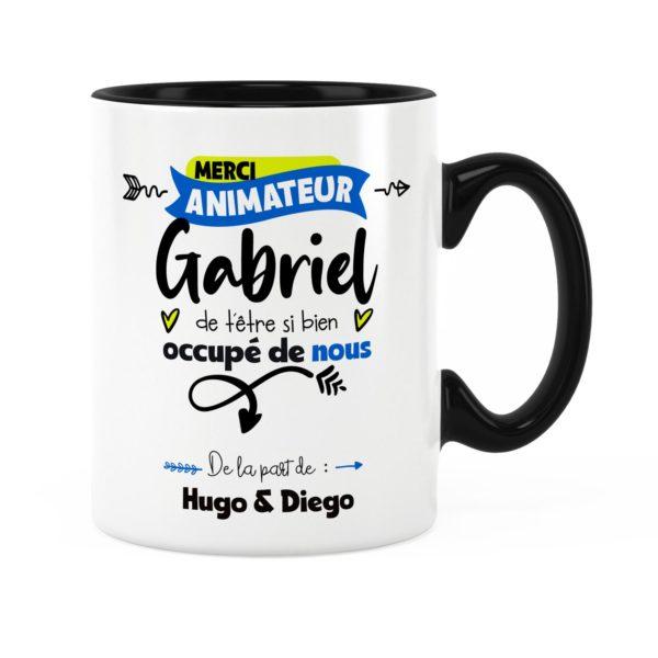 Idée cadeau animateur | Cadeau mug animateur merci avec prénom