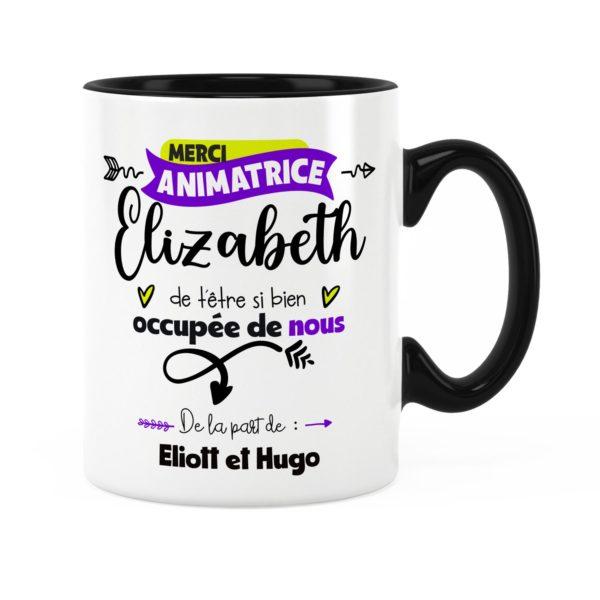Idée cadeau animatrice | Cadeau mug animatrice merci avec prénom