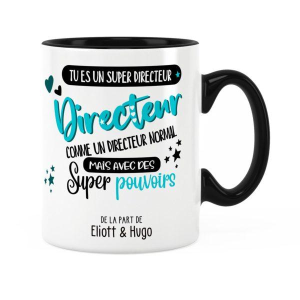 Cadeau directeur | Idée cadeau mug directeur super pouvoirs