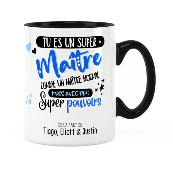 Cadeau pour maître   Idée cadeau mug maître super pouvoirs
