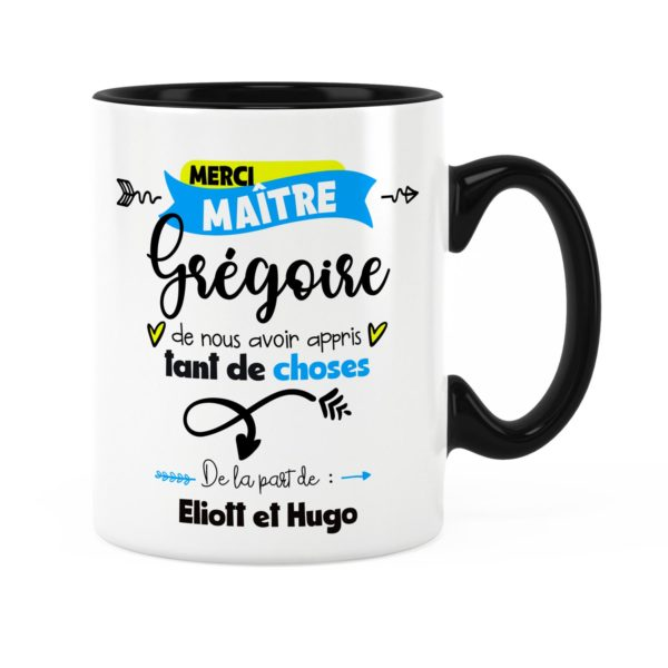 Cadeau pour maître   Idée cadeau de mug pour maître merci